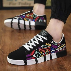 ISABLE-New Men's Leisure Shoes, Trendy Shoes, Canvas Shoes, Korean Sports Trendy Boys'Skate Shoes black 39