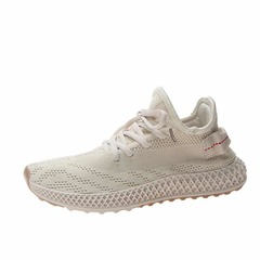 ISABLE-Sports Women's  Spring 2019 New Trendy Mesh Light Running Shoes Daddy ins Coconut  Student white 35