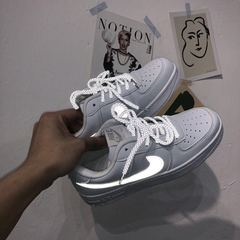 ISABLE-NIKE AIR FORCE light-emitting Baitao Sports Small White Shoes Couple Air Force Flat-soled Luminescence 36