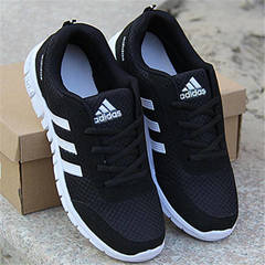 ISABLE-ADIDAS 36-48 sneakers running shoes large size single shoes super light running shoes black white 36