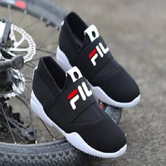 ISABLE FILA Sports and Leisure Shoes, Forrest Gump Shoes, Lazy Shoes, Air-breathing Shoes black 39
