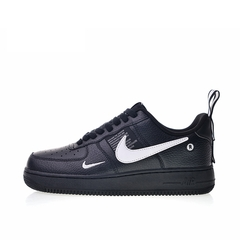ISABLE Seven Colours High Quality Air Force Trend Sports Shoes Men's Leisure Shoes Skateboard Shoes black 36