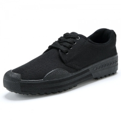 Workplace training shoes, working shoes, military training shoes, men's shoes, rubber shoes. black 45