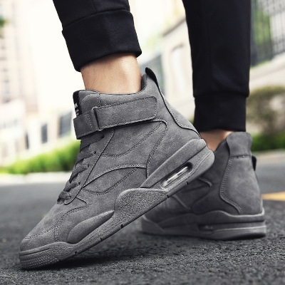 2018 new sports are hot fashionable handsome sportswear casual sports men's shoes. gray 39