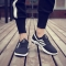 2018 men's net sports shoes sports shoes board shoes Korean version youth running net shoes. black 40