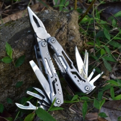 Multifunctional clamp and lock combined folding knife clamp domestic outdoor emergency tool forceps black 10*4*1.6cm