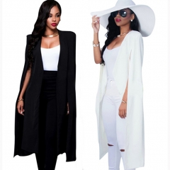 Suit  coat women's long style black and white two color fashion black S