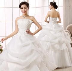 Wedding dress 2018 New Bride wedding dress with Bare-shouldered lace Sexy slim Wedding Full dress s white