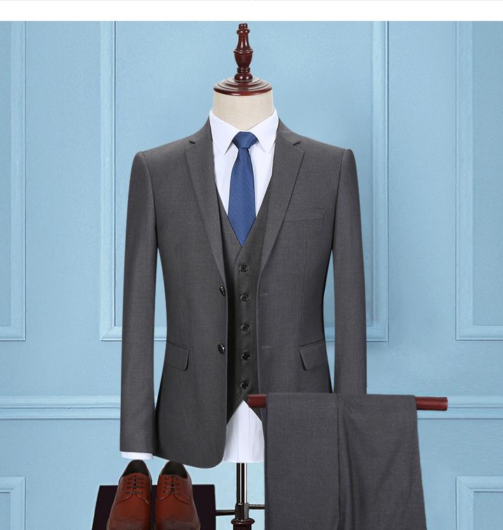 Kilimall: New men\'s suit business wedding suit trousers dark grey ...