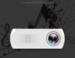 Mini portable projector,LED projector,1080 P high-definition projection,Fashion projector gray 12*9*6