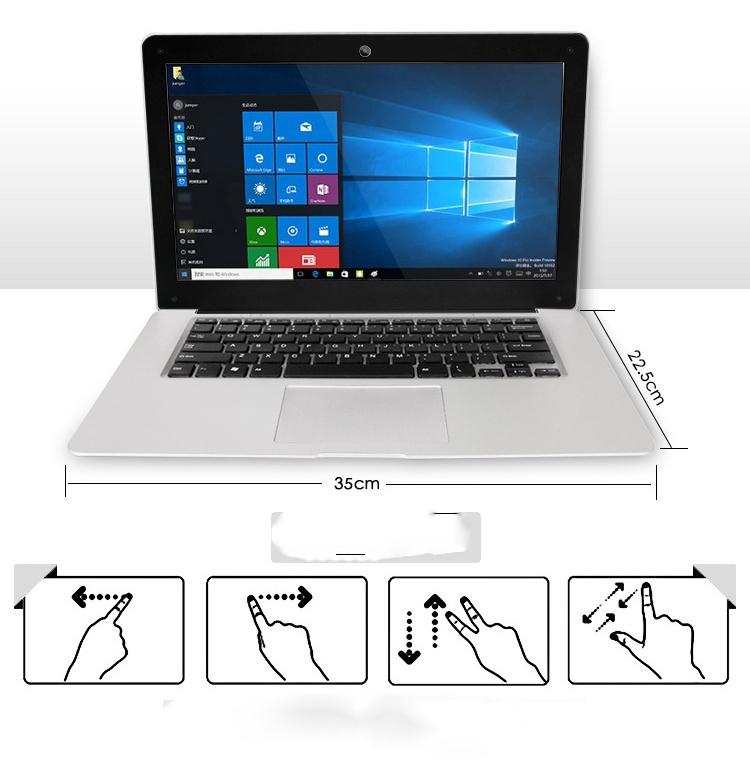 BLUEING-14.1''2G RAM+32G SSD,10000mAh,Core 4,1080 P,Ultrathin white 35*23*1.7 10
