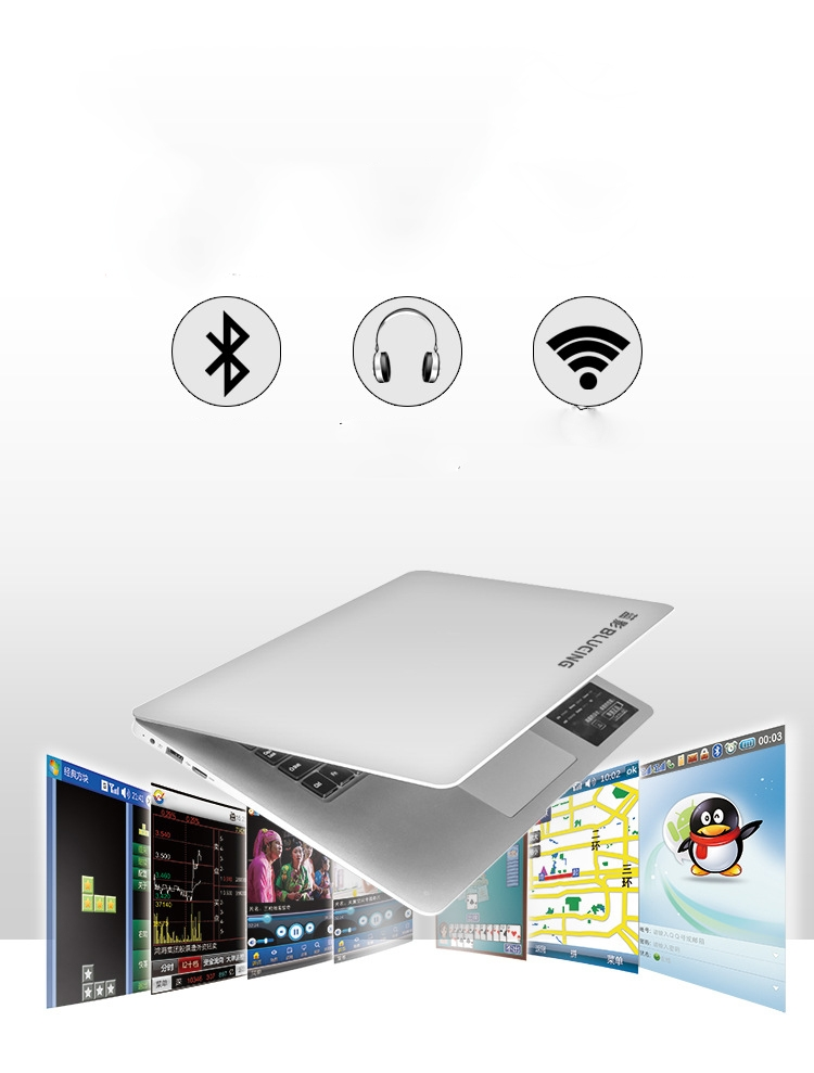BLUEING-14.1''2G RAM+32G SSD,10000mAh,Core 4,1080 P,Ultrathin white 35*23*1.7 12