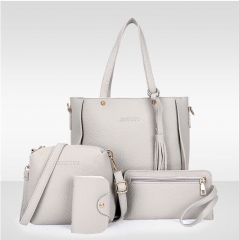 Handbags Multi-color Fashion Women's Luxury Bags Pu Leather gray as picture