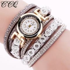 Women's Watches Velvet Strap Diamond Circle Fashion Women's Bracelet Watches gray