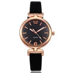Simple Female Models Watches Fashion Thin Strap Large Digital Casual Ladies Watch black