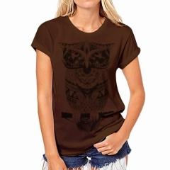 2018 New Summer Top Shirts Women T Shirts Print Tshirt Sexy Tees Tops Fashion White coffee s