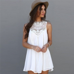 2018 Summer White Lace Mini Party Dresses Sexy Club Casual Vintage Beach Sun Dress s white