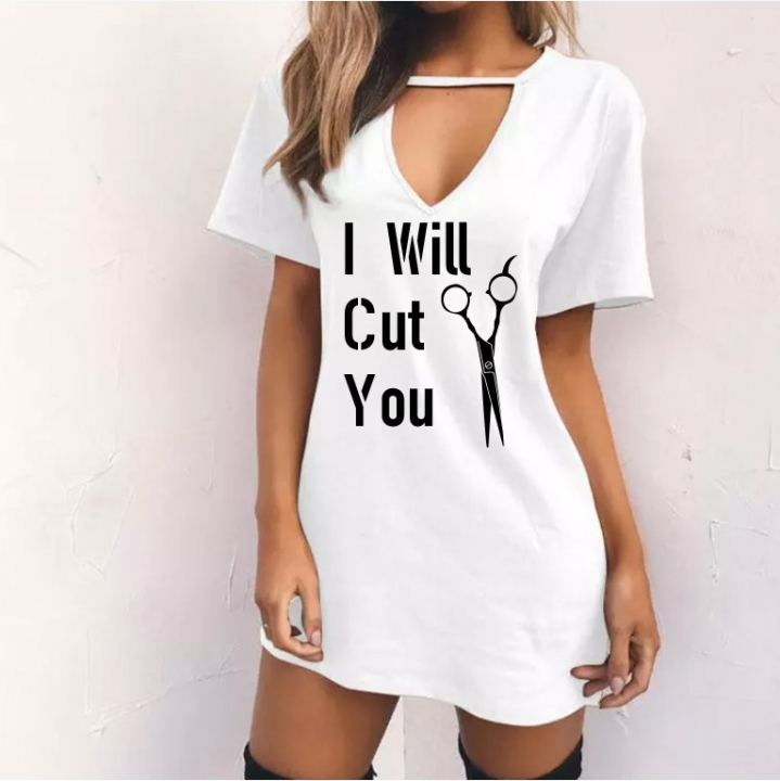 32217c7ee96f 2018 Sexy V Neck Cotton Summer Dresses Female Solid Casual Loose Dress Women  A-Line
