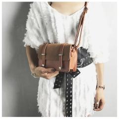 Fashion Women Messenger Crossbody Bags Brand Design Sling Shoulder PU Leather Handbags Purses brown 20cm x12cm x7cm