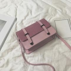 Fashion Women Messenger Crossbody Bags Brand Design Sling Shoulder PU Leather Handbags Purses pink 20cm x12cm x7cm