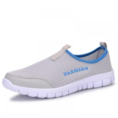 2018 New Women Light Sneakers Summer Breathable Mesh Female Cheap Casual Shoes light gray 34