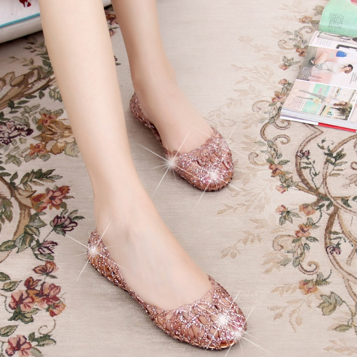 4c71e5f5b9f89 2018 Fashion Lady Girl Sandals Summer Women Casual Jelly Shoes Sandals  Hollow Out Mesh Flats Pink