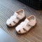 2018 100% soft leather in summer the new boys and girls children beach shoes kids sport sandals white 21