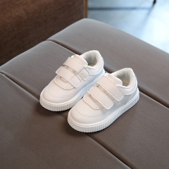 2018 child casual leather boots male female soft outsole shoes baby sport shoes children toddler white 21