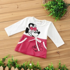 New Fashion 100% cotton girl dresses Dress Girl Dress princess party Clothing Kids Clothes red 80cm
