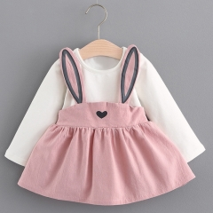 2018 Summer New Baby Girls Clothes Lace Bow tie Mini Baby Princess Dress Cute Cotton Kids Clothing pink 5-70cm