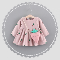 Summer New Baby Girls Clothes Lace Bow tie Mini Baby Princess Dress Cute Cotton Kids Clothing pink 80cm