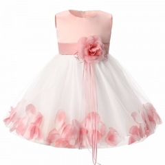 Newborn Baby Girl 1 Year Birthday Dress  Girl Christening Dress Infant Princess Party Dresses For pink S