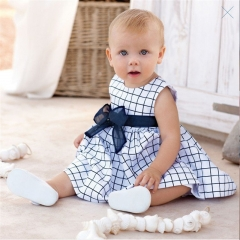 Infant baby girl clothing summer toddler clothes newborn dresses for girls newborn dress blue 80cm