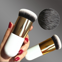 New Chubby Pier Foundation Brush Flat Cream Makeup Brushes Professional Cosmetic Make-up Brush Photo Color