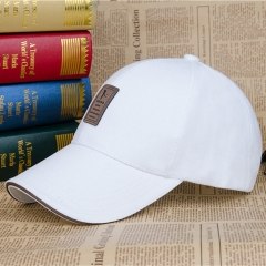 Baseball Cap Men's Adjustable Cap Casual leisure hats Solid Color Fashion Summer Fall hat white