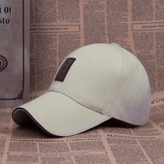 Baseball Cap Men's Adjustable Cap Casual leisure hats Solid Color Fashion Summer Fall hat Rice white