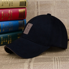 Baseball Cap Men's Adjustable Cap Casual leisure hats Solid Color Fashion Summer Fall hat black