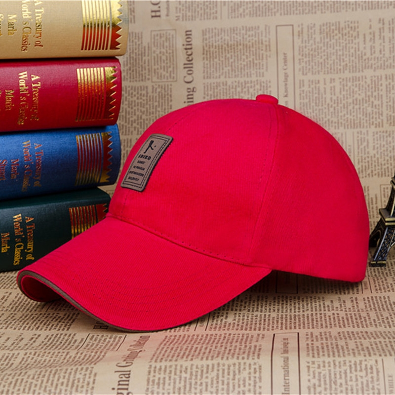 a98b6a86d13 Baseball Cap Men s Adjustable Cap Casual leisure hats Solid Color Fashion  Summer Fall hat red  Product No  1624842. Item specifics  Brand