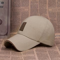Baseball Cap Men's Adjustable Cap Casual leisure hats Solid Color Fashion Summer Fall hat Khaki