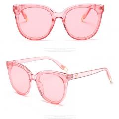 2018 Fashion Women Colour Luxury Flat Top Cat Eye Sunglasses Elegant Twin Beam oversized Sun glasses colour 001 139mm