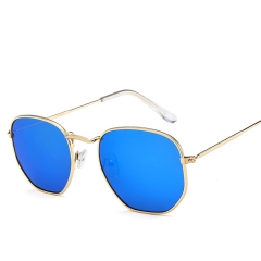 Polygonal Sunglasses Women Glasses  Luxury Retro Metal Sun Glasses   UV400 colour 001 133mm