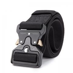 2018 Hot Mens Tactical Belt Military Nylon Belt Outdoor multifunctional Training Belt  Strap black 125cm