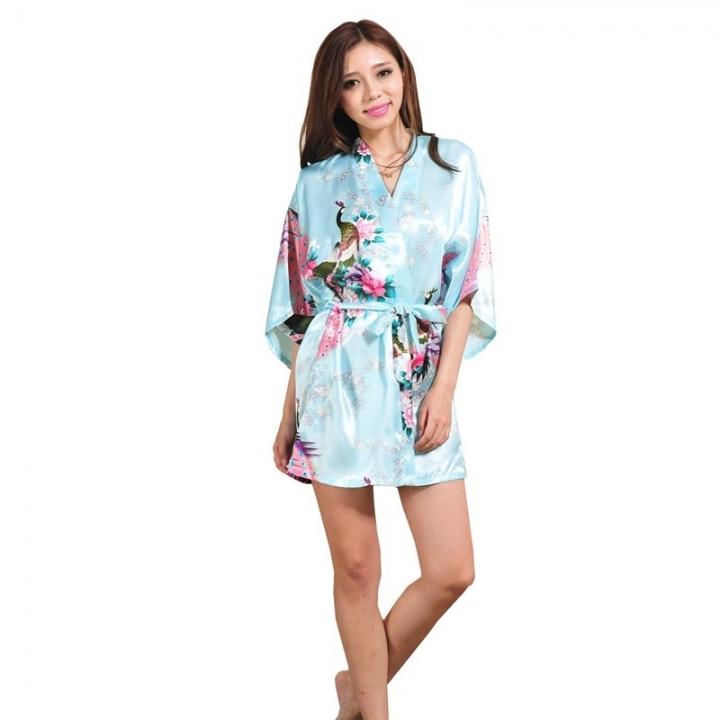 Wedding Bride Bridesmaid Robe Floral Bathrobe Short Kimono Robe Night Robe  Bath Robe Fashion color9 S 8592ab30a