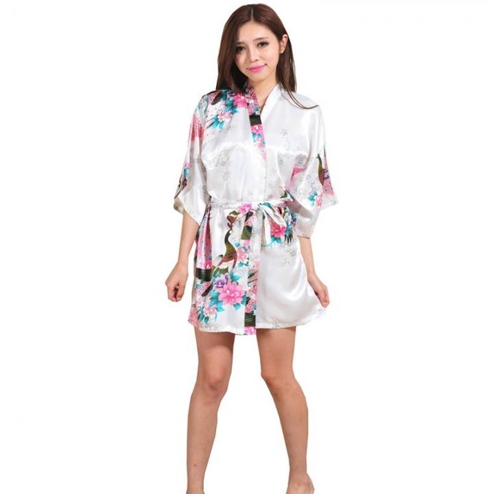 Wedding Bride Bridesmaid Robe Floral Bathrobe Short Kimono Robe Night Robe  Bath Robe Fashion color1 XXL 80cde9d2b