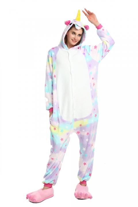 24f37036f8 Unicorn Panda Bear Koala Pikachu Adult Unisex Cosplay Costume Pajamas  Sleepwear For Men Women color7 xl