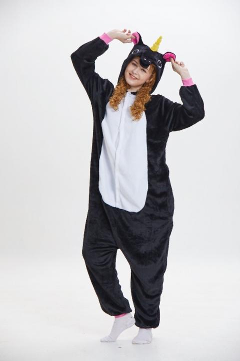 7ffad48222 Unicorn Panda Bear Koala Pikachu Adult Unisex Cosplay Costume Pajamas  Sleepwear For Men Women color10 m