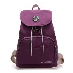 Women Backpack Waterproof Nylon Backpack Lady Women's Backpacks Female Casual Travel Bag purple 39cm×29cm×14cm