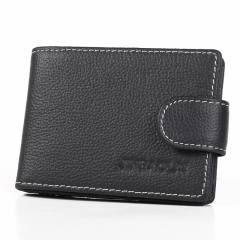 Genuine Leather Men Wallets High Quality Design Wallets with Coin Pocket Purses Gift For Male Purse black 11cm×7.7cm×1cm