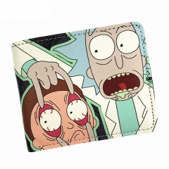 Comics Rick And Morty Wallet With Coin Pocket Card Holder Short Coin Purse colour01 11.5cm×9.3cm