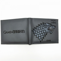 Hot Sell Leather Stark Winter is Coming Short Wallets With Card Holder Men's Purse Cartoon Wallet colour01 22.5cm×9cm